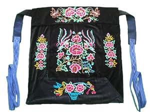 Flowery Mei Tai Baby Carrier 100% Handmade Art Front Back Sling Wrap Podaegi #124 - FREE SHIPPING