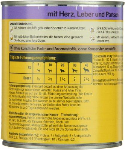 Pedigree Dose Adult mit Herz, Leber und Pansen, 12er Pack (12 x 800 g) - 3