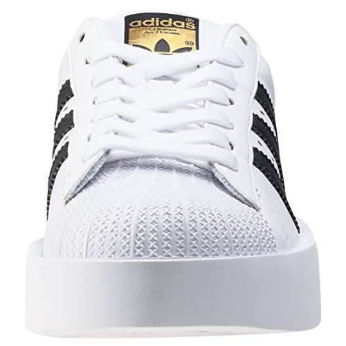 adidas Superstar Bold W, Sneakers Basses Femme White Black