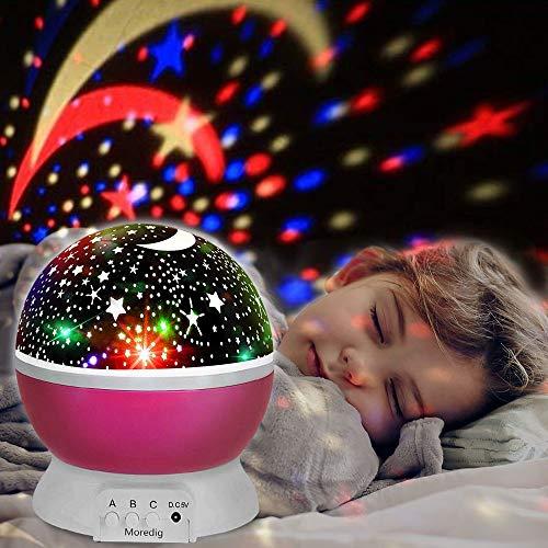 Sternenhimmel Projektor, innislink Star Nachtlicht Sternenprojektor 360° drehbar Romantisches LED Sternen Lampe Projektionslampe für Kinder Zimmer, Schlafzimmer, Hochzeit, Geburtstag, Parteien - Rosa