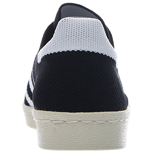 Superstar 80 di Primeknit uomo in nero / bianco Adidas, 9.5 Black/White