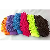 #8: Micro Fiber Washing Hand Gloves Duster Single Side Gloves (Pack 0f 1) (Random Color will be shipped)