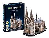 Revell 3D Puzzle 00203 Dom, die Kathedrale der Stadt Köln und eines ihrer Wahrzeichen Die Welt in 3D entdecken, Bastelspass für Jung und Alt, farbig