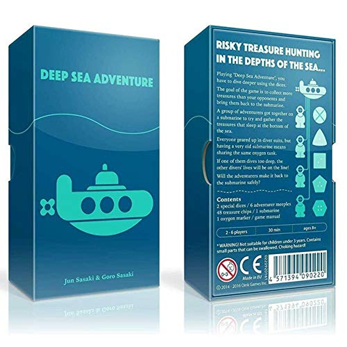 Deep Sea Adventure Game Brettspiel, Kartenspiel-Set mit Interaktions-Gadget für Familien, Kinder, Kinder, Party, Reisen, drinnen und draußen