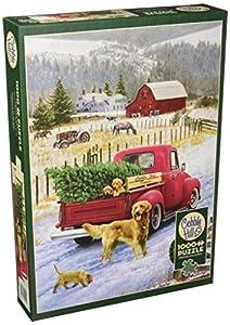 Cobblehill 80127 - Puzzle de 1000 Piezas, diseño de Navidad en la Granja