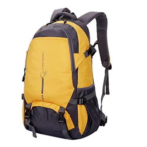 Yy.f Leichte Reisepaket Rucksäcke Wander Taschen Wandern Tagesrucksack Leichte Outdoor-Reisen Camping Rucksack Reiten Yellow