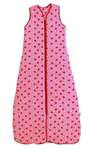schlafsack für den Sommer 1.0 Tog in rosa für Mädchen - Äpfel - 3-6 Jahre / 130cm ()