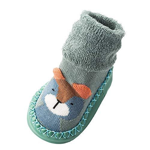 Lenfesh Unisex Baby Mädchen Junge 3D Cartoon Socken Säugling Slipper Schuh Booties Thermosocken Wintersocken Kuschelsocken Haussocken