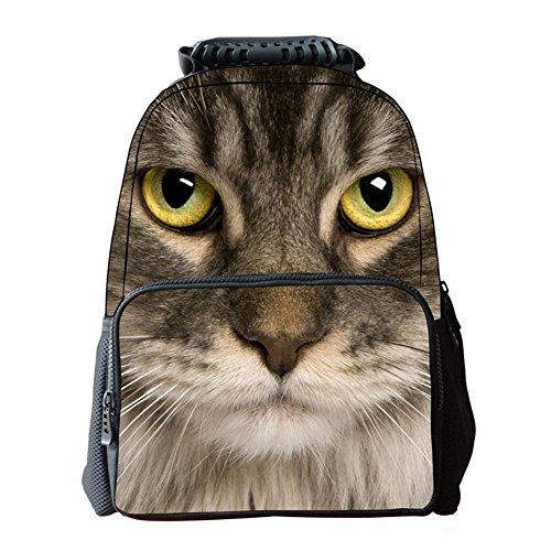 Imagen de unisexo bolsas escolar animal print 3d tela de fieltro  de senderismo