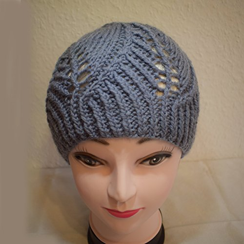 Damen Mütze handmade, handgestrickt, unikat, Frühling, vintage, retro