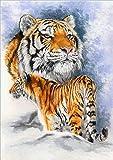 LuoMei Perforación Redonda 5D DIY Diamante Pintura Animal Leopardo Bordado 3D Punto de Cruz Mosaico Rhinestone Hogar Decoración del Hogar Regalo 30 * 40 cm, 15, 30x40 cm