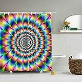 RISHIL WORLD Dazzling Design Colorful Pattern Bathroom Waterproof Polyester Fabric Shower Curtain