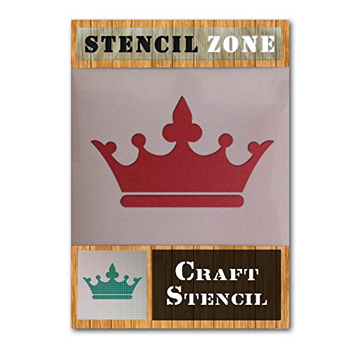 Crown Jewels King Queen Royal Mylar Airbrush Gemälde Art Wand Crafts Schablone 3 A2 Size Stencil - Large blau (Royal Design Wand Schablone)
