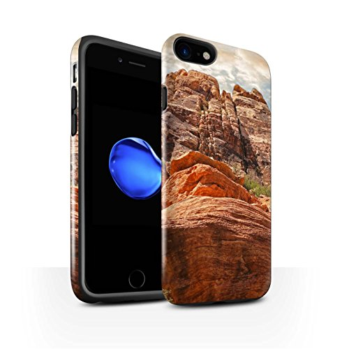 STUFF4 Glanz Harten Stoßfest Hülle / Case für Apple iPhone 8 / Felsenschlucht Muster / Bundesstaat Nevada Kollektion Berge