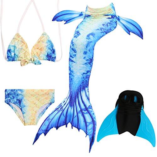 Das beste Mädchen Bikini Badeanzüge Schönere Meerjungfrauenschwanz Zum Schwimmen mit Meerjungfrau Flosse Schwimmen Kostüm Schwanzflosse - Ein Mädchentraum- Gr. 120, Farbe: A04(2)