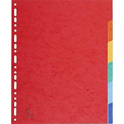 Exacompta 2606E Divisori e Segnaletica, 24.2x29.7 cm, Multicolore