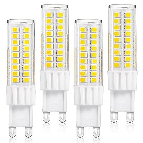 LOHAS® 7W G9 LED Lampe, Ersatz für 60W Halogen Lampen, Warmweiß, Energiesparlampe Lampe 3000K, 500LM, 360° Abstrahlwinkel, LEDLampe, LED Birnen, LED Leuchtmittel, 220-240V AC, 4er Pack