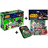 Topps Force Attax Star Wars Adventskalender + Starter Sammelmappe + Mini Tin Box