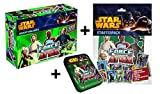 Topps Force Attax Star Wars Adventskalender + Starter Sammelmappe + Mini Tin Box