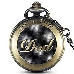 Idea Regalo - GORBEN al quarzo orologio da tasca orologio da taschino catena orologio papà