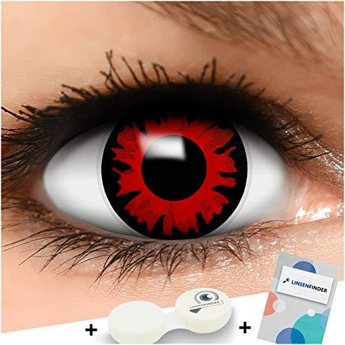 Farbige Kontaktlinsen Bella in rot + Behälter - Top Linsenfinder Markenqualität, 1Paar (2 (Belle 2 Stück Kostüm)