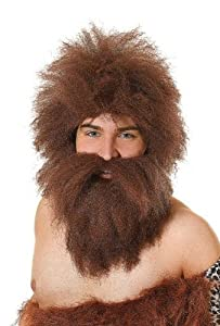 Caveman Wig + Beard Set (B25) (peluca)