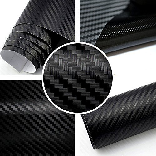 Preisvergleich Produktbild Rapid Teck® 3D Carbon Autofolie Schwarz 2m x 1,52m flexieble Car Wrapping Folie mit Luftkanälen
