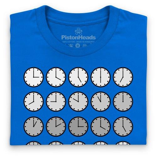 PistonHeads PHLM14 Clocks T-Shirt, Herren Royalblau