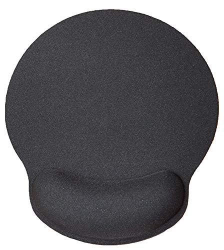 Silent Monsters ergonomisches Komfort Mauspad mit Handauflage aus Gel, schwarz, handgelenkschonendes Gelmauspad