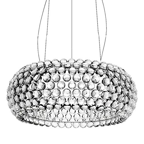 QueenYA Kristallkronleuchter Silberner Lampenschirm Metall Restaurantbeleuchtung Ion Kronleuchter Acryl Nordisches Modernes Design Haus Dekoration
