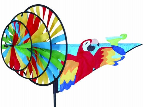 Premier Kites Windspiel Triple Spinner Parrot Nylongewebe 45x83x68cm