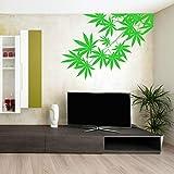 Grüner Baum Blätter Pflanze Unkraut Vinyl Design Wandaufkleber Kunst Home Wohnzimmer Schlafzimmer Dekor Links Rechts Nach Wahl Tapete 81x57 cm