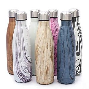 KAILH Vakuum Isolierte Edelstahl Trinkflasche, BPA Frei Wasserflasche Auslaufsicher, 500/750/1000ml Thermosflasche für…
