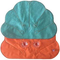 Vi.yo Bad Kopfstütze Shell Form Badewanne mit Kissen Haushalt Badezimmer liefert Mode bequem mit Saugnapf Air Dunnage Bag zufällige Farbe, 1 Stück