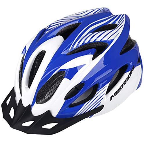 wthfwm Fahrradhelme Mountainbike-Helm mit 18 großen Belüftungsöffnungen Sicherheitsschutz Komfortables Leichtgewicht,Blue-57/62cm