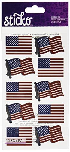 Unbekannt Sticko Waving Flaggen Aufkleber