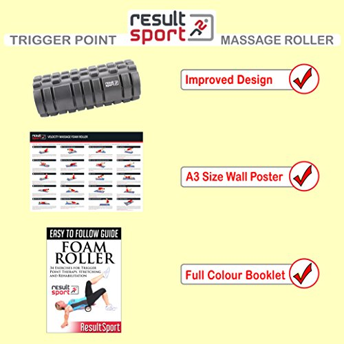 ResultSport-Velocity-Grid-Foam-Roller-34x15cm-Blue