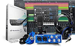 Presonus Audiobox kit d'enregistrement studio avec Casque HD7 + Microphone M7 + Studio One Artist + Câbles Noir
