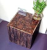 #2: Nisar Handicrafts Wooden Handmade Antique Living Room Coffee Table, Stool Square Shape