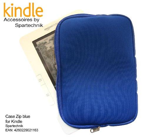 Zipper Tasche Kindle 2 blau mit Reissverschluss. Neopren Case für E-Book Reader Kindle, Kindle 2G + Wi-Fi - preiswerte und sichere Tasche für elektronische Buch von AMAZON, Farbe blau