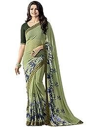 Kalapy Fashion Women's Georgette Silk Saree With Blouse Piece (Klpy-A15_Mehndi_Mahendi)