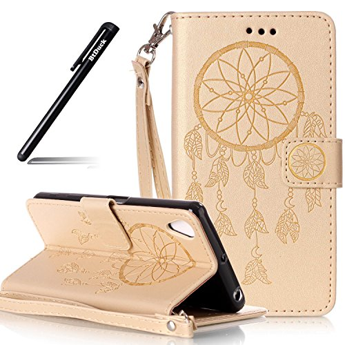 case-for-sony-xperia-x-performance-inch-wallet-embossed-wind-chimes-case-for-sony-xperia-x-performan