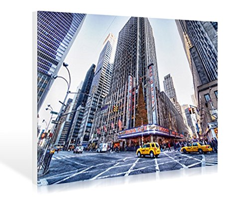 Leinwandbild Dr. Michael Feldmann - Radio City Music Hall - 104 x 70cm - Premiumqualität - USA, Amerika, New York, Metropole, Städte, Gebäude / Manhattan, Rockefeller Center, Architektur - MADE IN GERMANY - ART-GALERIE-SHOPde - Radio City Music Hall Manhattan