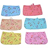 GURU KRIPA Baby Products ® Presents New Born Baby Cotton Hosiery Premium Quality Triangle Nappies, Nadi, Langot Washable Reusable Cotton Nappy Baby Wear Assorted Colored Pack Of 6 (Multi Coloured)