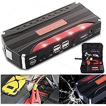 sansido Car Jump Starter 68800mAh 4USB multifunción coche de 12V Power Bank Batería recargable mini car Jump Starter Mobile Cargador + 3luces LED