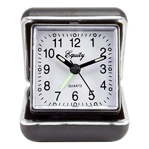 JIAHANLI Reloj Despertador Despertador de Viaje Plegable