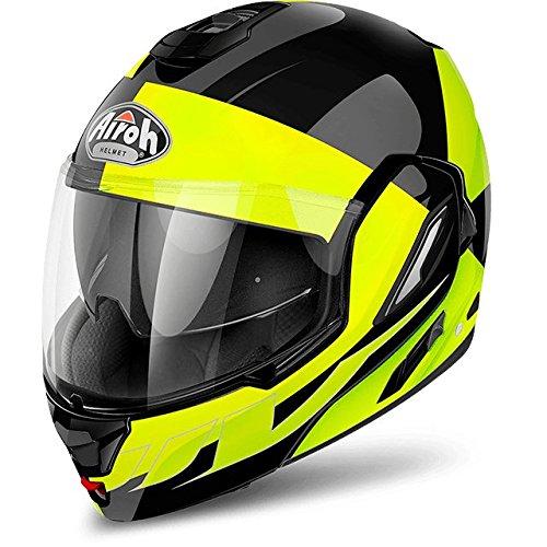 Casco Helmet Modular mentoniera abatible Airoh Rev Fusion Amarillo Yel
