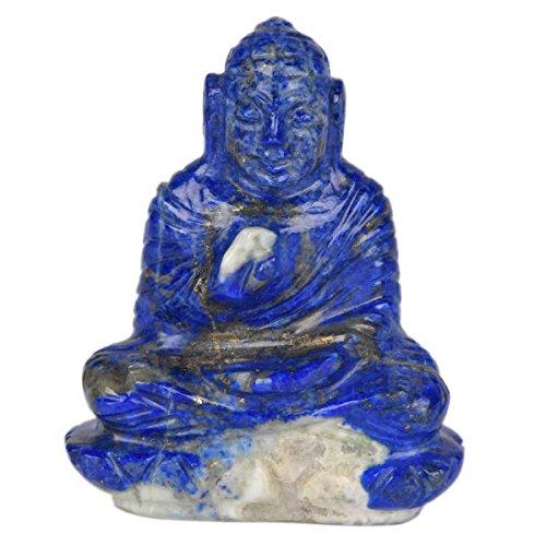 546,00 Ct. Lapis Lazuli Edelstein Buddha Statue Tibet Medizin Abhaya alten tibetischen chinesischen Buddhismus V-7840