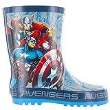 Jungen Marvel Avengers Force Gummistiefel (EU 35, Blau)