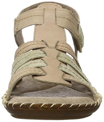 Jana Damen 28109 Offene Sandalen mit Keilabsatz Beige (TAUPE 341)